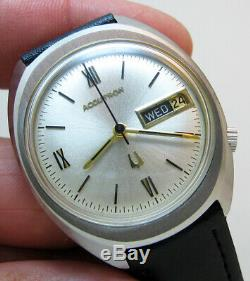 Serviced Vintage 2182 Accutron Bulova Stainless Steel Tuning Fork Mens Watch N0