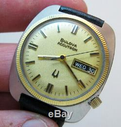 Serviced Vintage 2182 Accutron Bulova Stainless Steel Tuning Fork Mens Watch N2