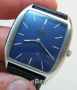 Serviced Vintage 2183 Accutron Bulova Stainless Steel Tuning Fork Mens Watch M9
