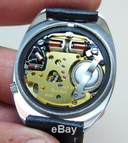 Serviced Vintage 218 Accutron Bulova Stainless Steel Tuning Fork Mens Watch N6