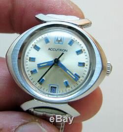 Serviced Vintage 2302 Accutron Stainless Steel Tuning Fork Lady Watch N3