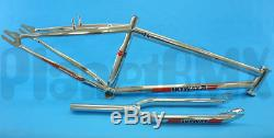 Skyway 24 T/A XL BMX FRAME & FORK bicycle SET retro CHROME cruiser NEW 2017