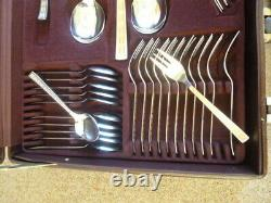 Soligen Rostfrei 12 Setting 70 Pieces Gold Pl. Ated Cutlery Set In Case
