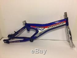 Specialized Hemi MX Fatboy BMX Bicycle Frame & Fork Blue Old School Bike