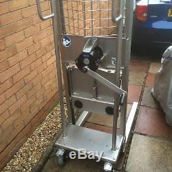 Stacking trolley winch lift stainless steel fork truck manual work positioner