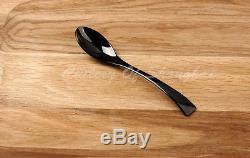 Stainless Steel Dinnerware 44 Pieces Black Cutlery Set Knife Fork Spoon Teaspoon