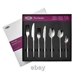 Stellar Rochester Polished 58 Piece Cutlery Boxed Set BL71 -RRP. £300, NEW