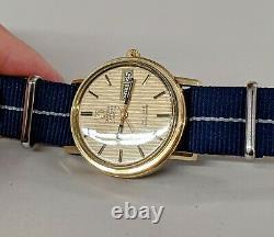 Stunning Omega De Ville f300hz Tuning Fork 14k Gold Filled Chronometer Watch