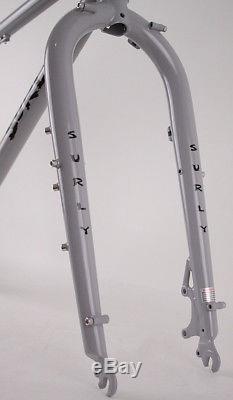 Surly Pugsley Fat Bike Frame and Fork MD Battleship Gray 59.6cm Top Tube