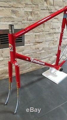 TOMMASINI Prestige Columbus steel frameset 56 57 cm frame fork VGC Tecno Sintesi