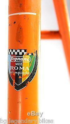 TRACK PISTA Racing LEGNANO ROMA OLIMPIADE 50'S Era Lugged Steel Frame Fork Set