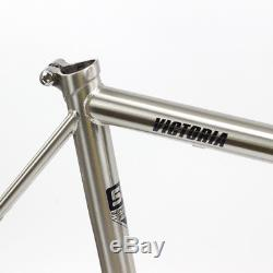 TSUNAMI Chrome CR-MO Steel Road Bike Frame Carbon Fork 700C Classic Frameset