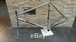 Tommasini Tecno Columbus EL road bicycle steel frameset frame 52 54 fork VGC