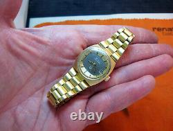 Tv Serviced 2302 Accutron Bulova Gold Electroplate Tuning Fork Lady Watch N4
