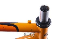 USED KHS Comp True Temper Steel Soft Tail Mountain Bike Frame/Fork 17 Orange