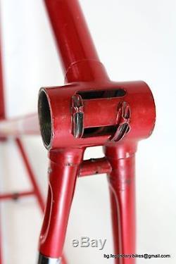 VINTAGE Racing bike Frame Fork set ALDO Lugged COLUMBUS Steel eroica medium