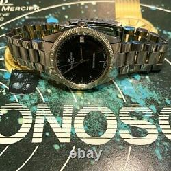 V Rare Baume & Mercier Tronosonic Tuning Fork c1974 Steel Black Dial Mens' Watch