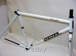 Very Nice 54cm Soma Fabrications Smoothie Tange Prestige Steel Frame & Fork