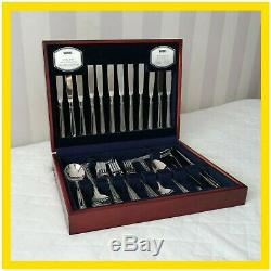 Viners Carlton Premium 18-10 Canteen of Cutlery, 8 Settings, 58 Pieces, Gift Box