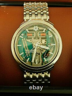 Vintage 1964 Bulova Accutron Spaceview Stainless Steel Tuning Fork Watch