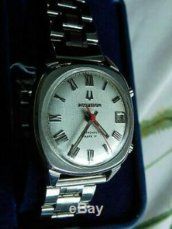 Vintage 1969. Accutron Astronaut Mark Iv. Stainless Steel. Tuning Fork. M