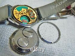 Vintage 1969 Accutron M9 All Original Ss Case Cal 214 Tunning Fork Watch