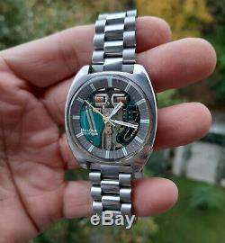 Vintage 1970's Bulova Accutron Spaceview Wristwatch Stainless Steel Tuning Fork