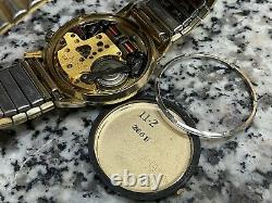 Vintage 1970s 14k Gold Filled Bulova Accutron Date Tuning Fork 2181 Mens Watch