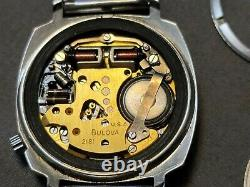 Vintage 1971 Bulova Accutron 2181 Tuning Fork TV Dial Mens Wristwatch Untested