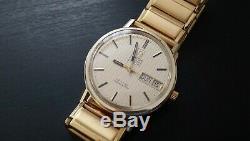 Vintage 1975 Omega De Ville F300 tuning fork watch. Serviced & working 1260