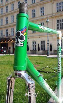 Vintage 1980s Ernesto COLNAGO SPRINT Columbus SL Steel Road Bike Frame Fork 57cm