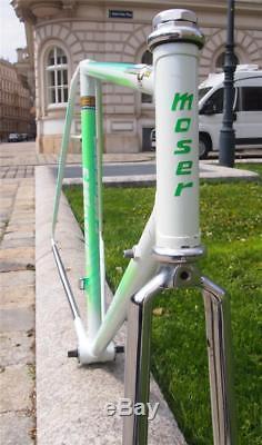 Vintage 1980s Francesco MOSER GIRO Oria Tubing Steel Road Bike Frame Fork 57cm