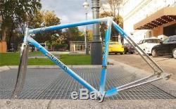 Vintage 1980s SCARPA Columbus Aelle Steel Road Bike Frame Fork 48cm XXS