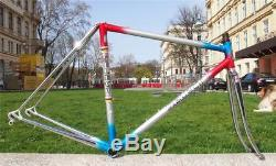 Vintage 1980s SELECT Vienna Columbus Cromor Steel Road Bike Frame Fork 50cm XS