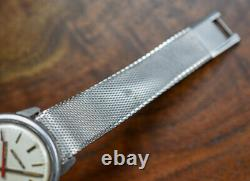 Vintage ACCUTRON 1971 Tuning Fork Stainless Steel Watch with Original Signed Band