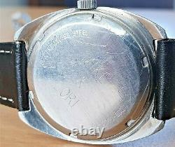 Vintage Allegro'Surf' SS Electronic Tuning Fork watch Zenith cal 50.0 RUNS