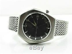 Vintage Bulova Accutron 2181 Tuning Fork Date Stainless Steel Wrist Watch