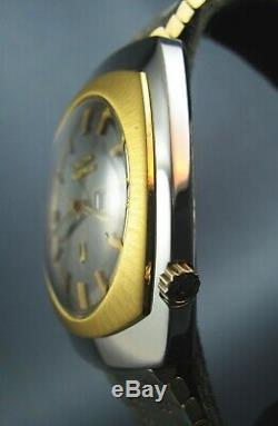 Vintage Bulova Accutron Tuning Fork 218 Stainless Steel Mens Date Watch 1975