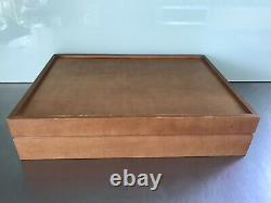 Vintage Cutlery Set Canteen In Wooden Box -Excellent Condition