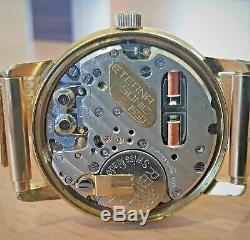 Vintage Eterna Sonic Electronic GP Tuning Fork watch cal 1550 ESA9162