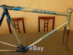 Vintage F. Moser (Francesco) FORMA steel Frameset frame fork Oria tubing