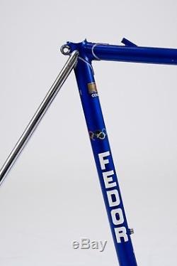 Vintage Fedor Den Hertog Steel Columbus Race Frame 1 Forks & Stem 56cm Cinelli