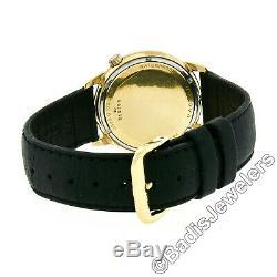 Vintage Mens 18k Gold Bulova Accutron Tuning Fork Movement M7 Wrist Watch 1967