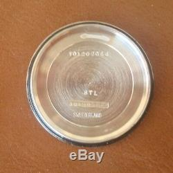 Vintage Mint SS Titus Tuning Fork Wrist Watch Omega 1250 Mvt. #9162