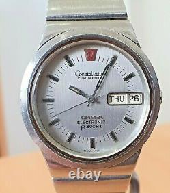 Vintage Omega Constellation Chronometer SS Tuning Fork watch cal 1260 RUNS