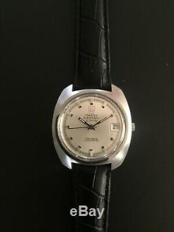 Vintage Omega F300 Geneve chronometer Stainless Steel tuning fork watch 1250