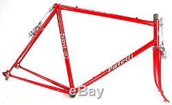 Vintage Racing Bike Patelli Lugged Steel FRAME FORK set Campy Dropouts 60's