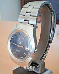 Vintage SS Omega Geneve f300 Tuning Fork watch cal 1250 (ESA 9162)