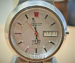 Vintage SS Omega Seamaster f300 Cone Electronic Tuning Fork watch cal 1260