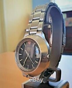 Vintage SS Omega f300 Cone Electronic Tuning Fork watch cal 1250 (ESA9162)